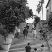Wonder why there are so many types of stairs nestled among houses in the Echo Park neighborhood?