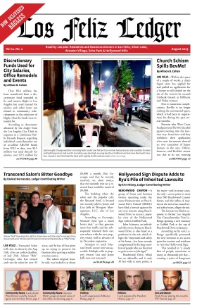 Los Feliz Ledger August 2015 Front Page