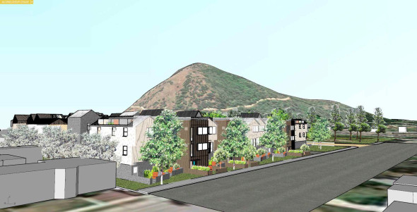 Atwater Village locals are fighting a developer with plans to build a 60-home development in North Atwater that they say is too big and too dense to co-exist in the traditionally equestrian neighborhood. Pictured is a rendering of the proposed project. Courtesy: La Kretz Family.
