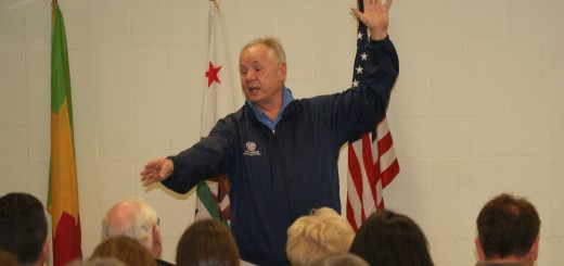 Former Los Angeles City Councilmember Tom LaBonge is seen here at a community meeting while he was still in office. Lawyers specializing in public records issues have requested an investigation into the former council member's destruction of public records in the months and weeks prior to his leaving office. Photo: Allison B. Cohen