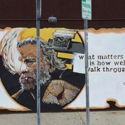 The new mural, painted on top of a pre-existing mural, violates the Visual Artists Rights Act.