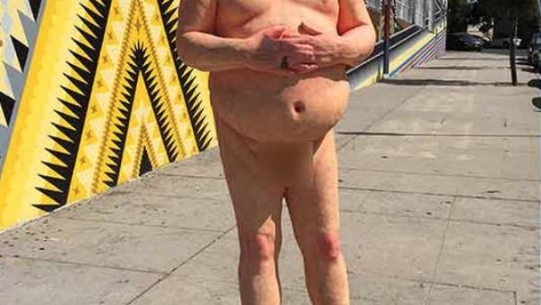 Los Feliz Installation of Trump Naked Statue