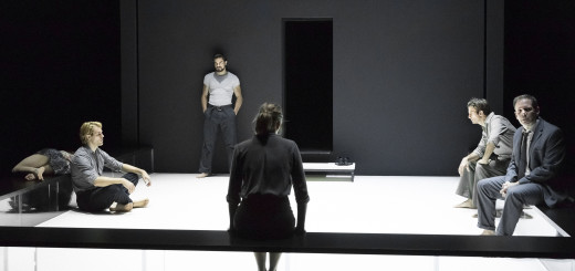 Winner of two 2016 Tony Awards, the production of Arthur Miller's A View From the Bridge directed by Ivo Van Hove is now playing at the Ahmanson Theater. Photo courtesy of Center Theatre Group.