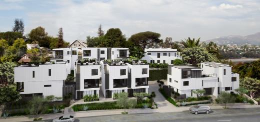 Hunter Leggitt Studio designed Ridge in Silver Lake, a collection of 10 hillside homes. Pricing starts at $1 million for the multi-level residences.