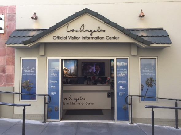 The official Los Angeles Visitor Center in Hollywood at Hollywood and Highland Center.