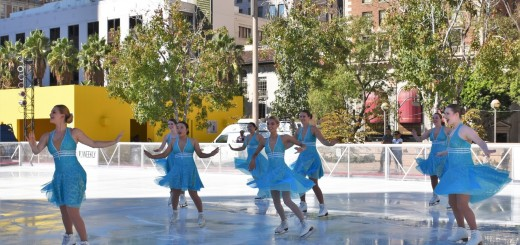 Now in its 19th season, Pershing Square has been transformed once again with its annual holiday ice rink and is open daily, including holidays, through January 16, 2017.  Photo: Holiday Ice Rink Pershing Square presented by Bai.
