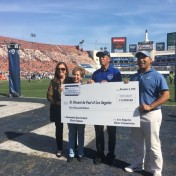 Claire Padama of St. Vincent de Paul of Los Angeles and Our Mother of Good Counsel Church received the 'Community Quarterback' award.