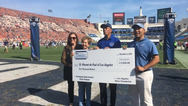 Local Receives L.A. Rams Award For Volunteerism