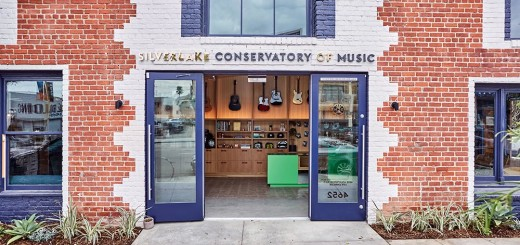 A retail shop and waiting area welcome parents and students at the new home of the Silverlake Conservatory of Music. Photo Credit: Laure Joliet