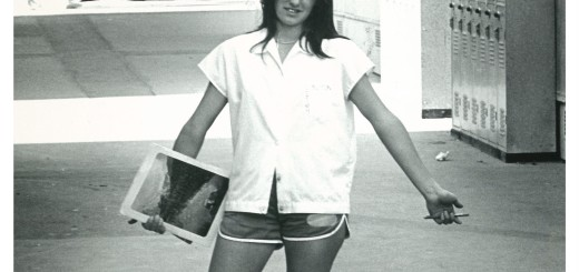 Leigh Sutton, a former Marshall High School student and volleyball player, pictured on campus in 1975, a year before her death in a tragic car accident.