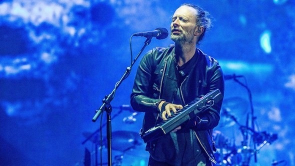 Thom Yorke walked off the stage twice during Radiohead's set due to audio difficulties. Photo: ABC News