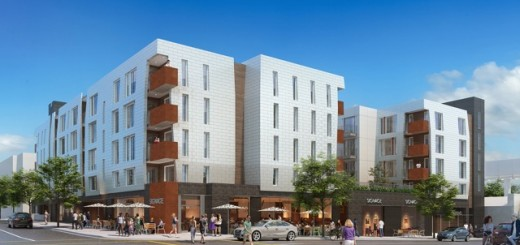 A controversial new 96-unit mixed-use apartment complex planned for the corner of Franklin and Western avenues.