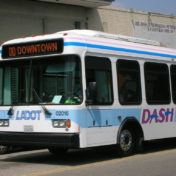 Garcetti allocated $14 million in this year's budget for additional operating costs for more frequent DASH service, weekend DASH service and new DASH buses.