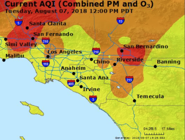 Air Quality Poor Today Worse Tomorrow Due To Smoke From Holy Fire